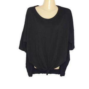 NWT Tresics Oversized Black Tee Shirt Short Sleeve